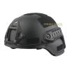 Шлем MICH с планками (черный)